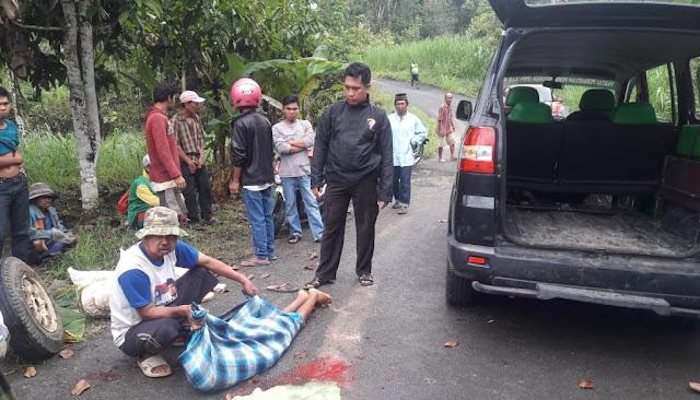 Mobil Dompeng Terbalik di Bone, 1 Orang MD di TKP