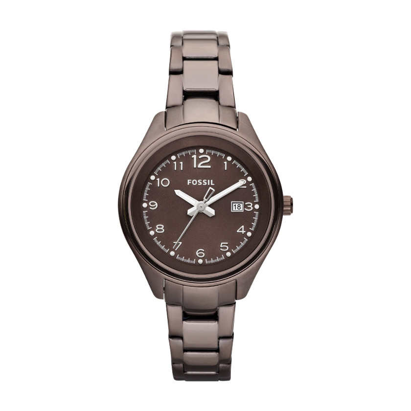 Usa boutique fossil women s flight stainless steel brown