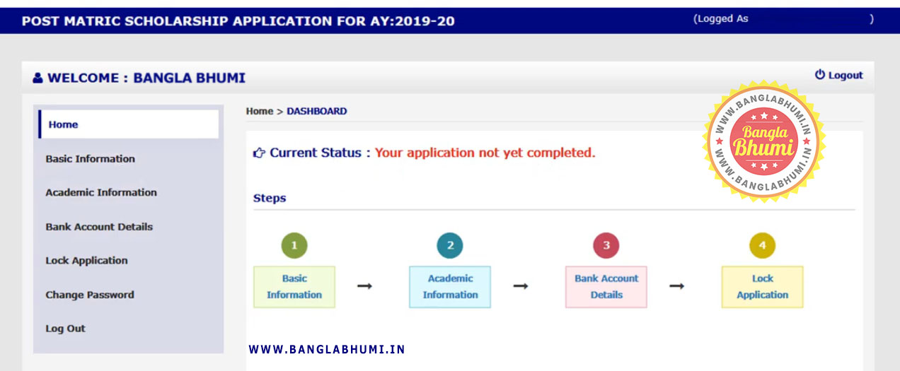 Aikashree Scholarship Dashboard - Online Application Aikashree Scholarship West Bengal