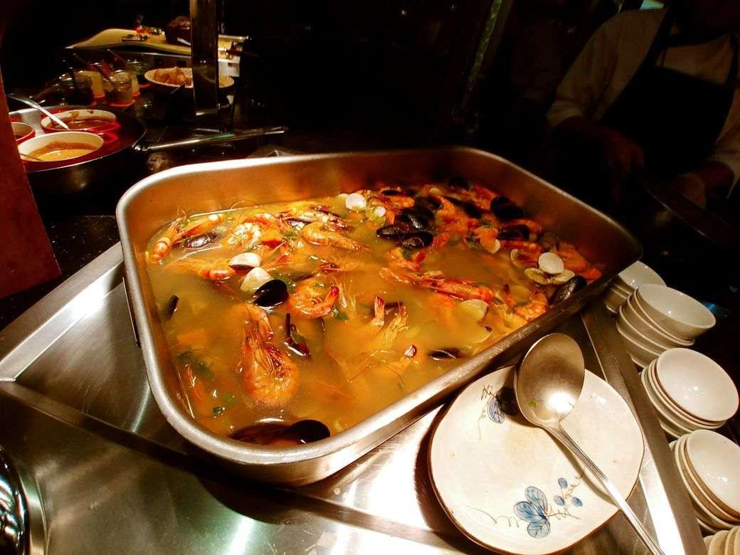 Seafood soup at Circles Event Cafe