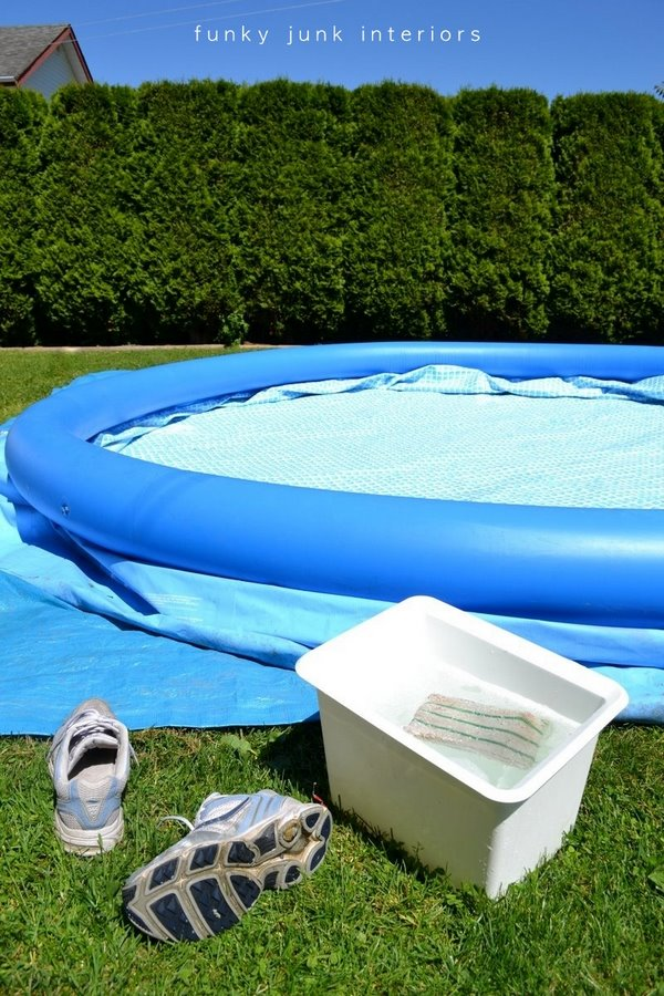 How To Set Up An Inflatable Pool Funky Junk Interiors
