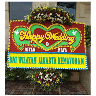 Bunga Papan Happy Wedding (WS-143)