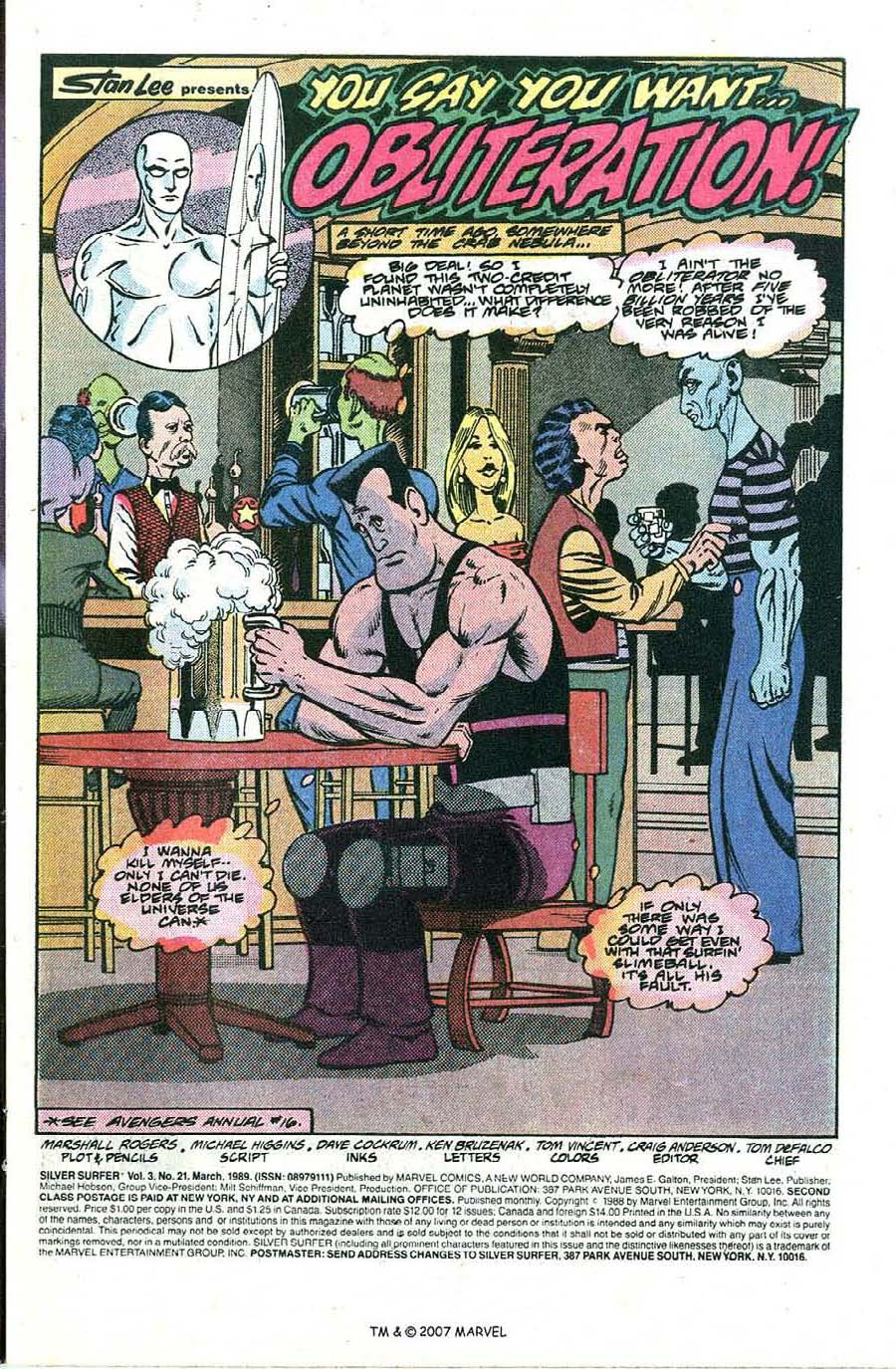 Read online Silver Surfer (1987) comic -  Issue #21 - 3