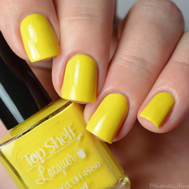 yellow creme nail polish