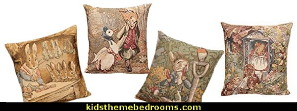 Beatrix Potter tapestry cushion pillow covers