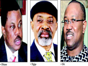 Image result for Pictures of governors Obiano, Peter Obi and Mbadinuju