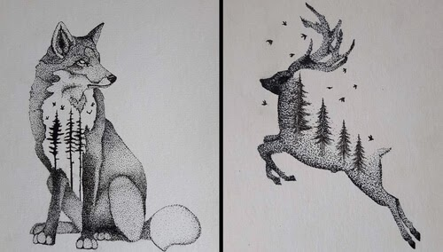 00-mARTin-Black-and-White-Stippling-Animal-Drawings-www-designstack-co