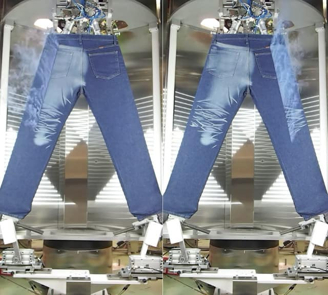 Laser Fading Treatment For Denim Finishing Clothing Industry