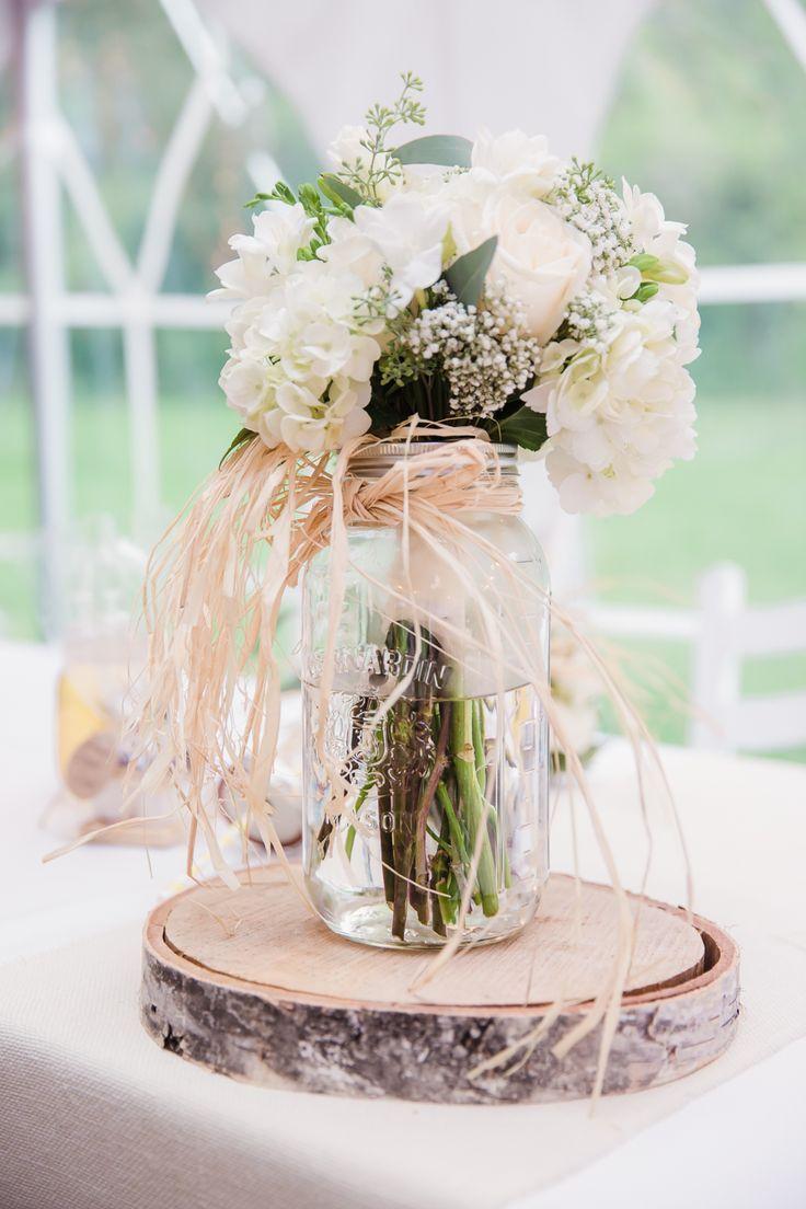 Wedding Centerpieces Wood Sliceason Jar