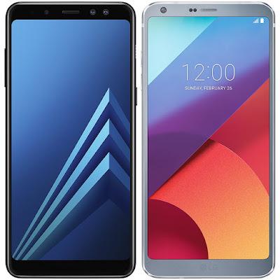 Samsung Galaxy A8 (2018) vs LG G6