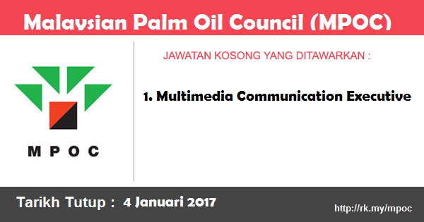 Jawatan Kosong di Malaysian Palm Oil Council (MPOC)