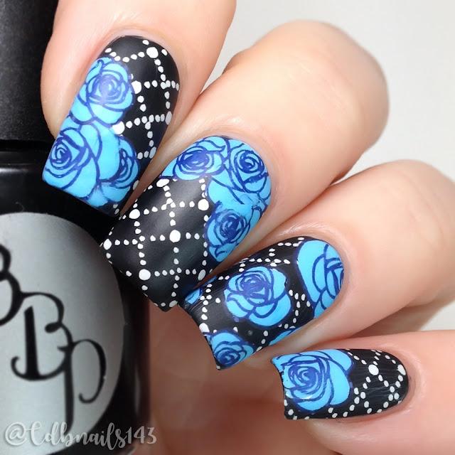 cdbnails143-blue floral
