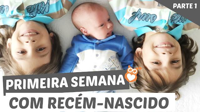 Primeiras semanas de um recém nascido com irmãos gêmeos