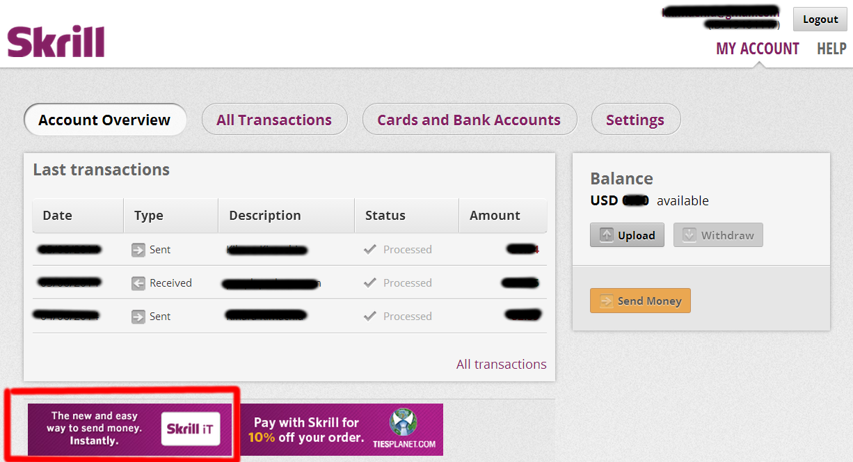 To Send Money Kenya Via M Pesa Look For The Skrill It Logo In Your Account As Shown Screen Capture Below