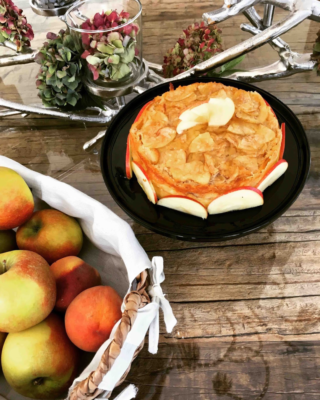 Apfel Pudding Kuchen Der Besonders Goldene Start In Den Herbst By