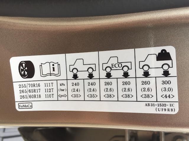 Áp suất lốp tiêu chuẩn của xe Ford | Áp suất lốp xe Ford Focus | Ford Escape | Ford Ranger | Ford Everest | Ford Explorer | Ford Fiesta