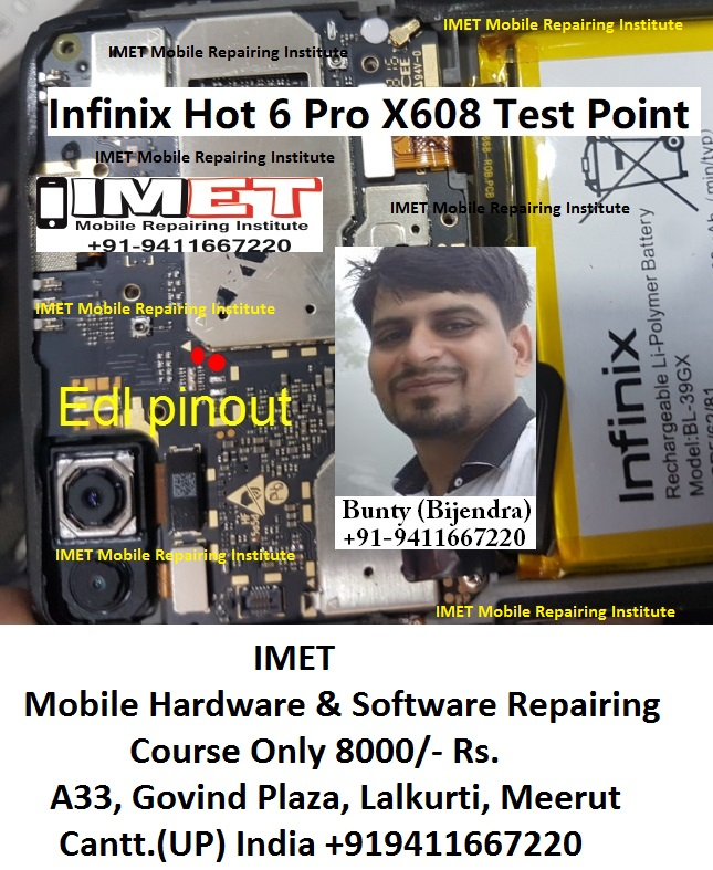 Infinix Hot 6 Pro X608 Test Point For Flashing – FRP Lock