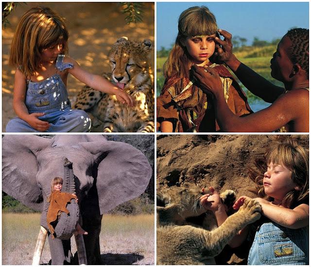 Gadis Kecil Ini Hidup  di Afrika Layaknya Seorang Tarzan