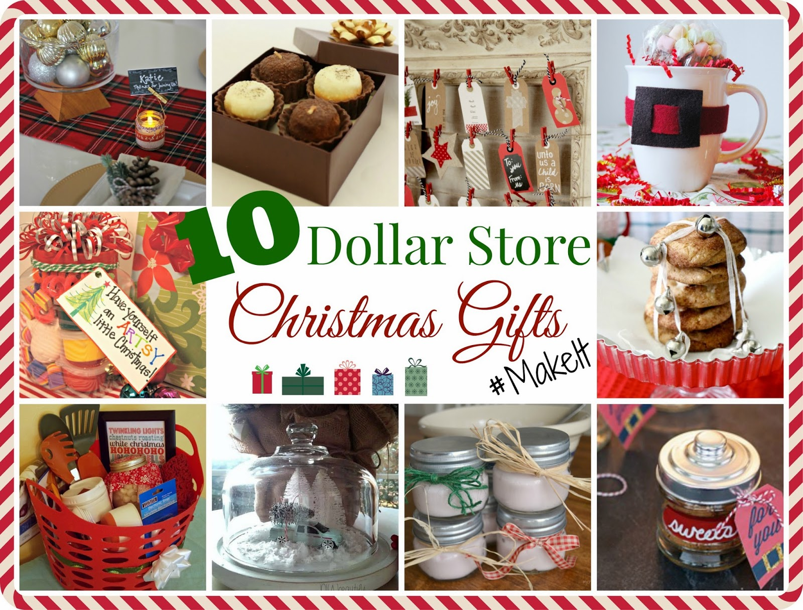 Dollar Store Christmas Gift Challenge at www.diybeautify.com #Makeit