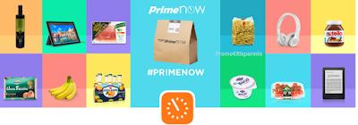 Logo Codice sconto 10 euro con App Amazon Prime Now