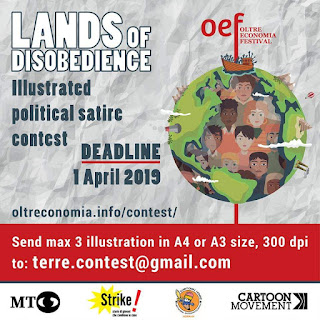 """International Cartoon Contest: """"Lands of Disobedience"""", Italy 2019"""