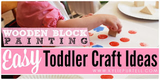 Toddler Craft Ideas: Block Painting