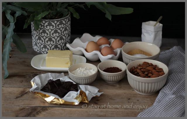 Zutaten Brownie-Konfekt - stay at home and enjoy