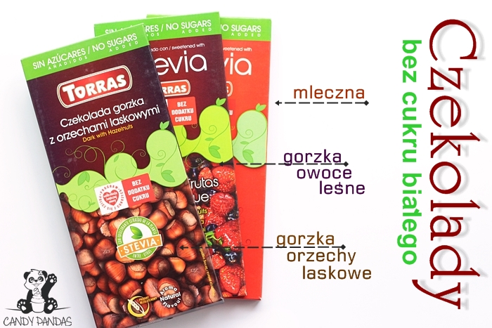 Czekolady ze stevią i erytrytolem - Torras