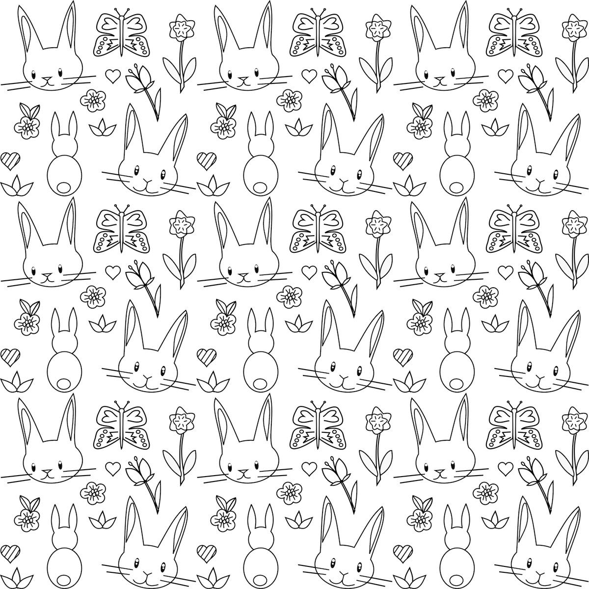 free printable bunny coloring page ausdruckbares ausmalpapier