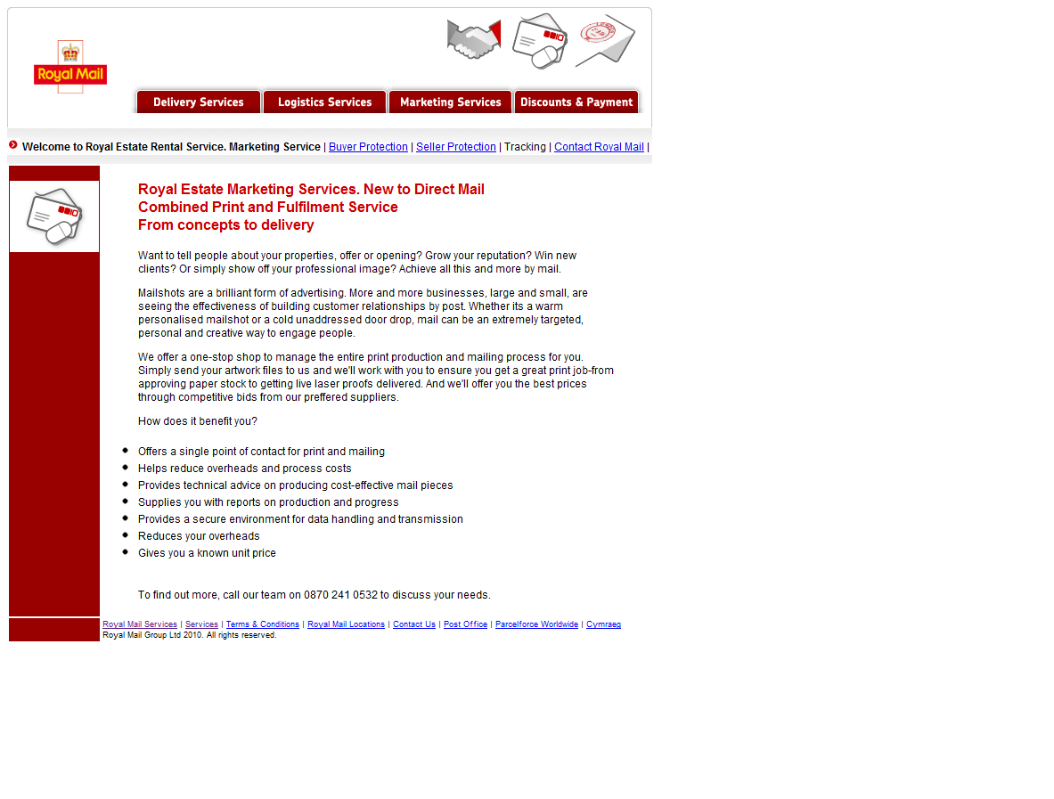 Internet Scammers: rentsafe-overseas info Royal Mail Spoof