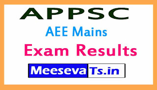 APPSC AEE Mains Exam Results 2017