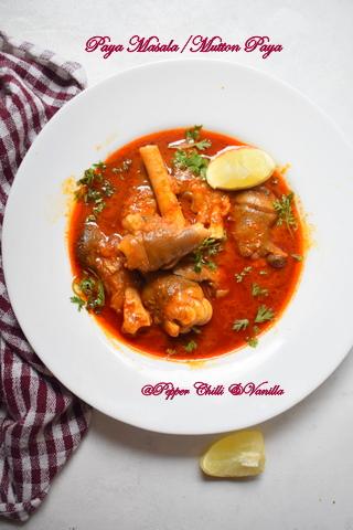 mutton paya masala