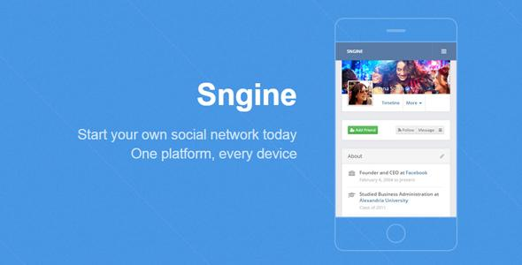 Sngine v2.0.5 – The Ultimate Social Network Platform