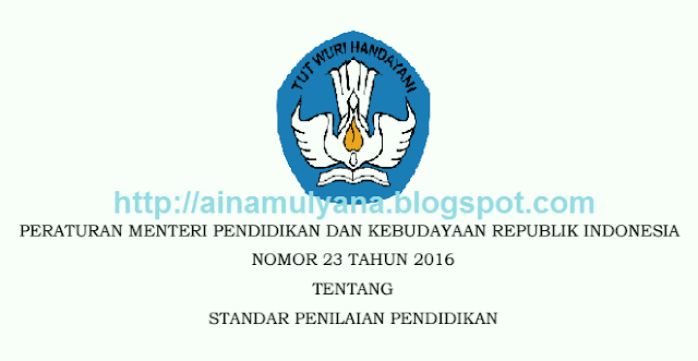 Permendikbud Nomor 23 Tahun 2016