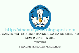Permendikbud No 23 [Tahun] 2016 (Tentang) STANDAR PENILAIAN PENDIDIKAN