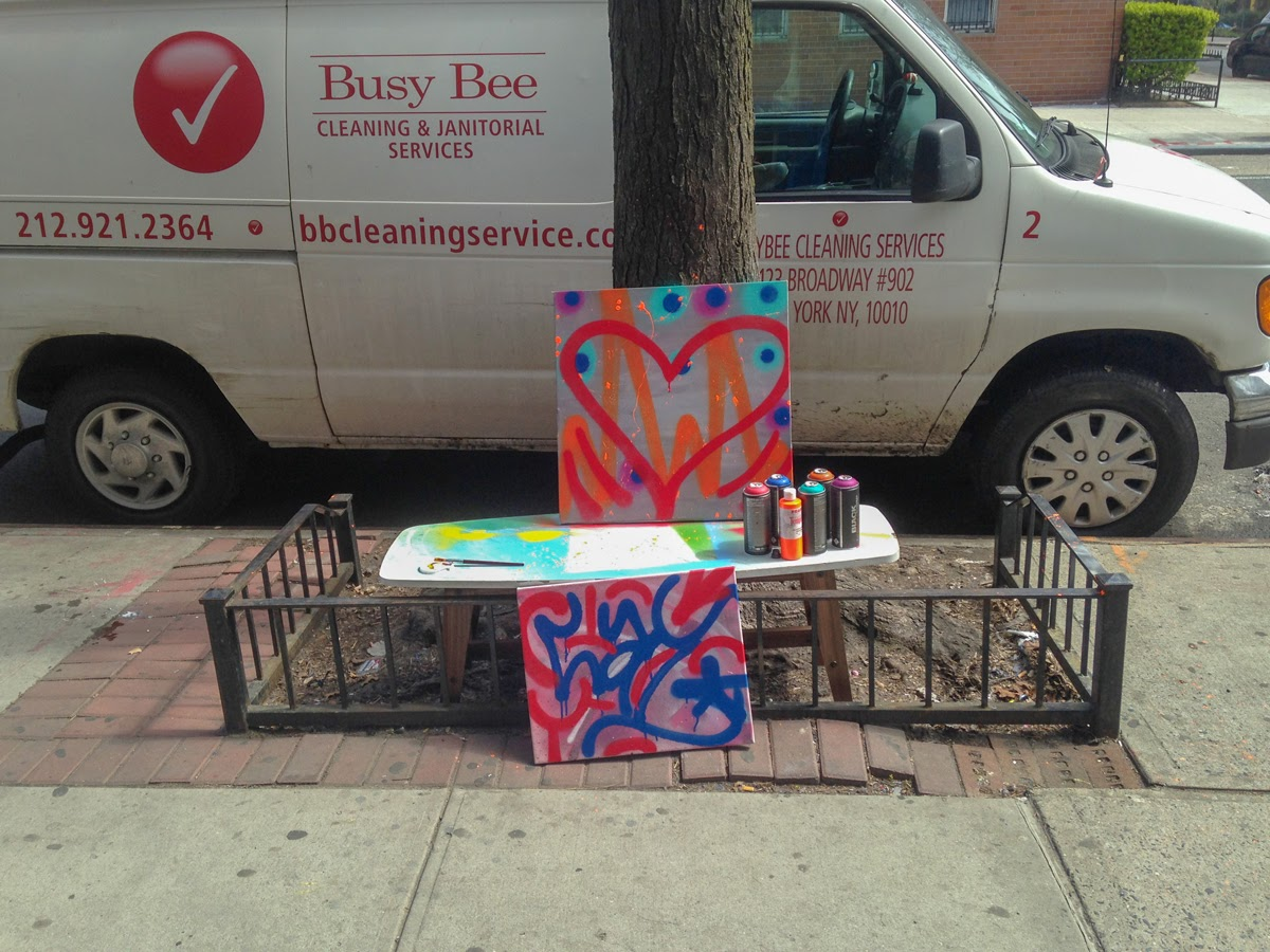 East Village Today Graffiti On Canvas