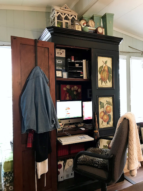 armoire is the office space