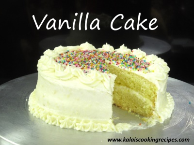 Vanilla Cake Easy Vanilla Cake And Butter Icing Beginner Cake