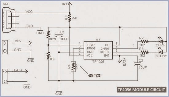 tp4056 lipo battery charger circuit