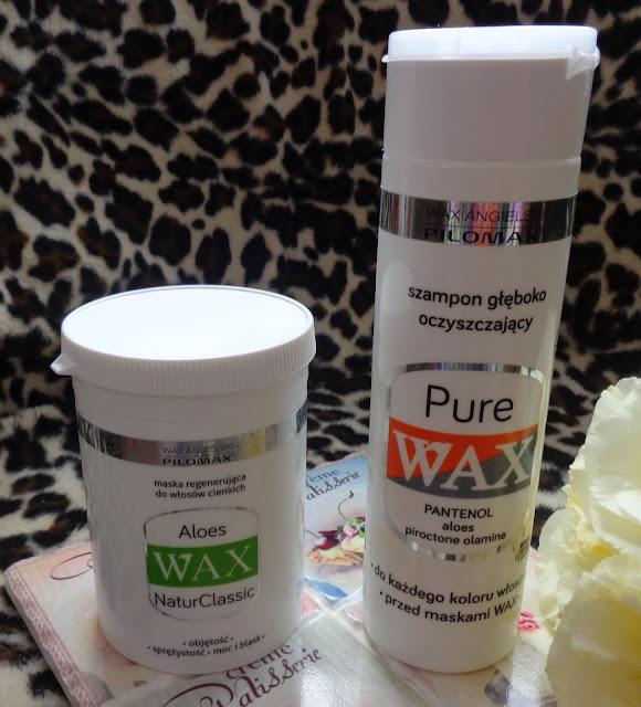 PILOMAX WAX szampon głęboko oczyszczający i maska Aloes czyli ulubieńcy miesięcy