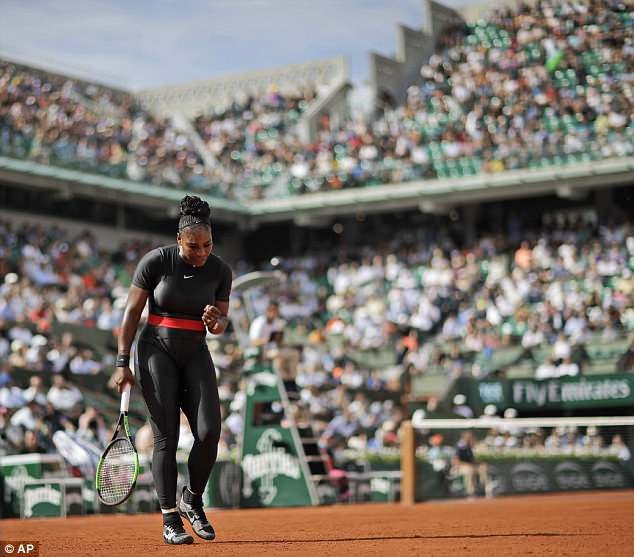 Serena Williams defeats Kristyna Pliskova on French Open return while wearing black catsuit