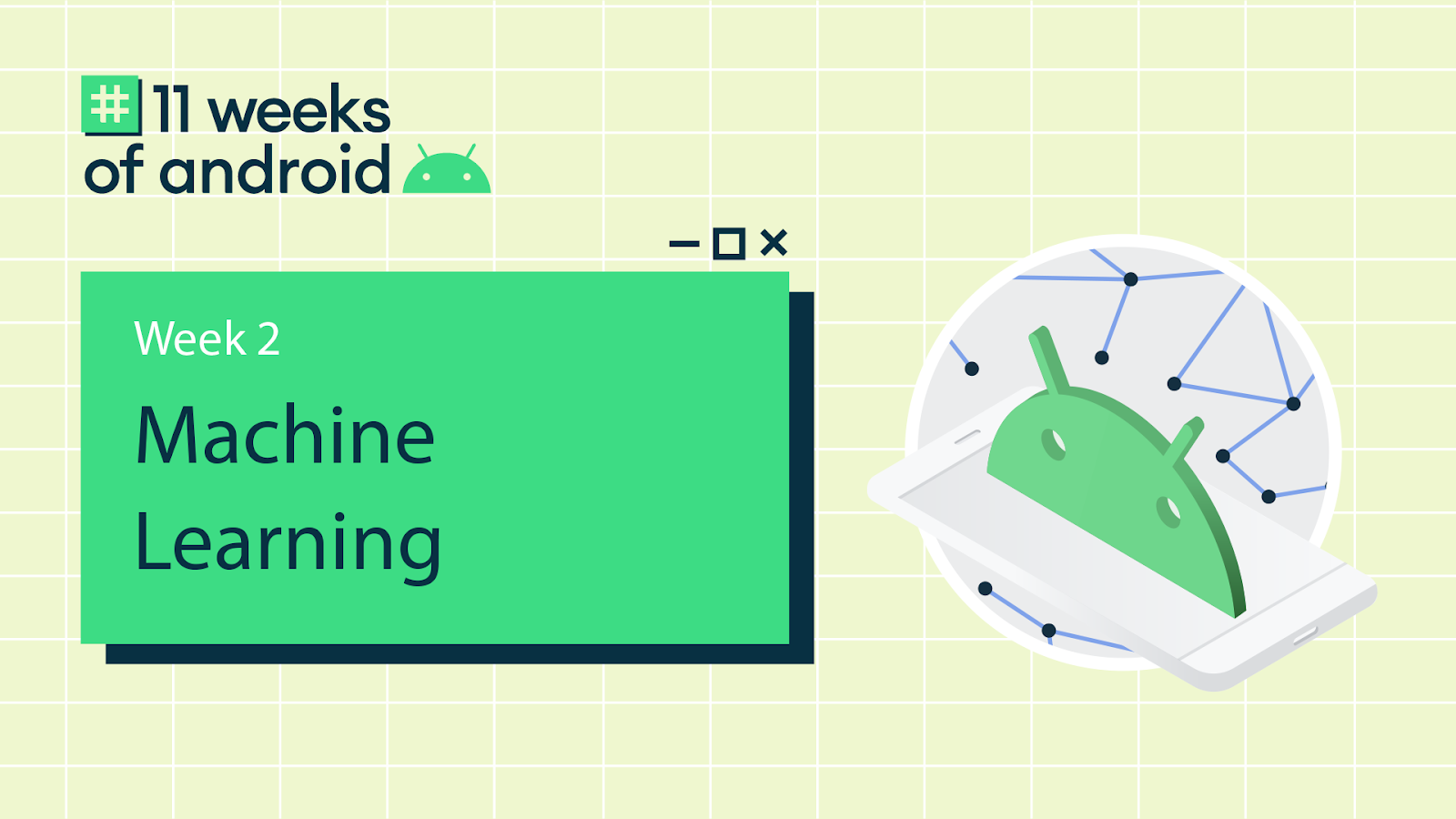 #11WeeksOfAndroid Week 2 Machine Learning with Android logo head
