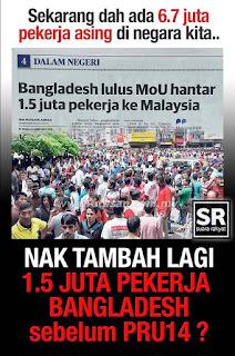 Image result for nak bawa masuk lagi 1.5 juta Bangla