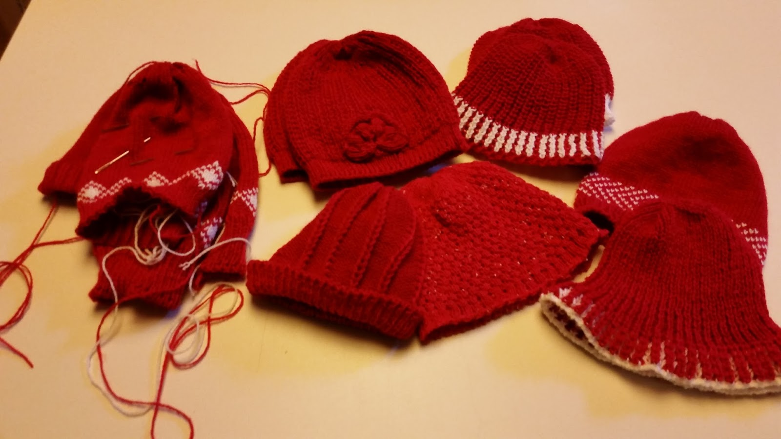 Diana natters on... about machine knitting: Baby Hats for Heart ...