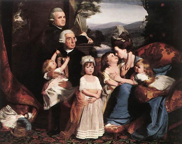 8th Grade Social Studies Colonial Family Paintings