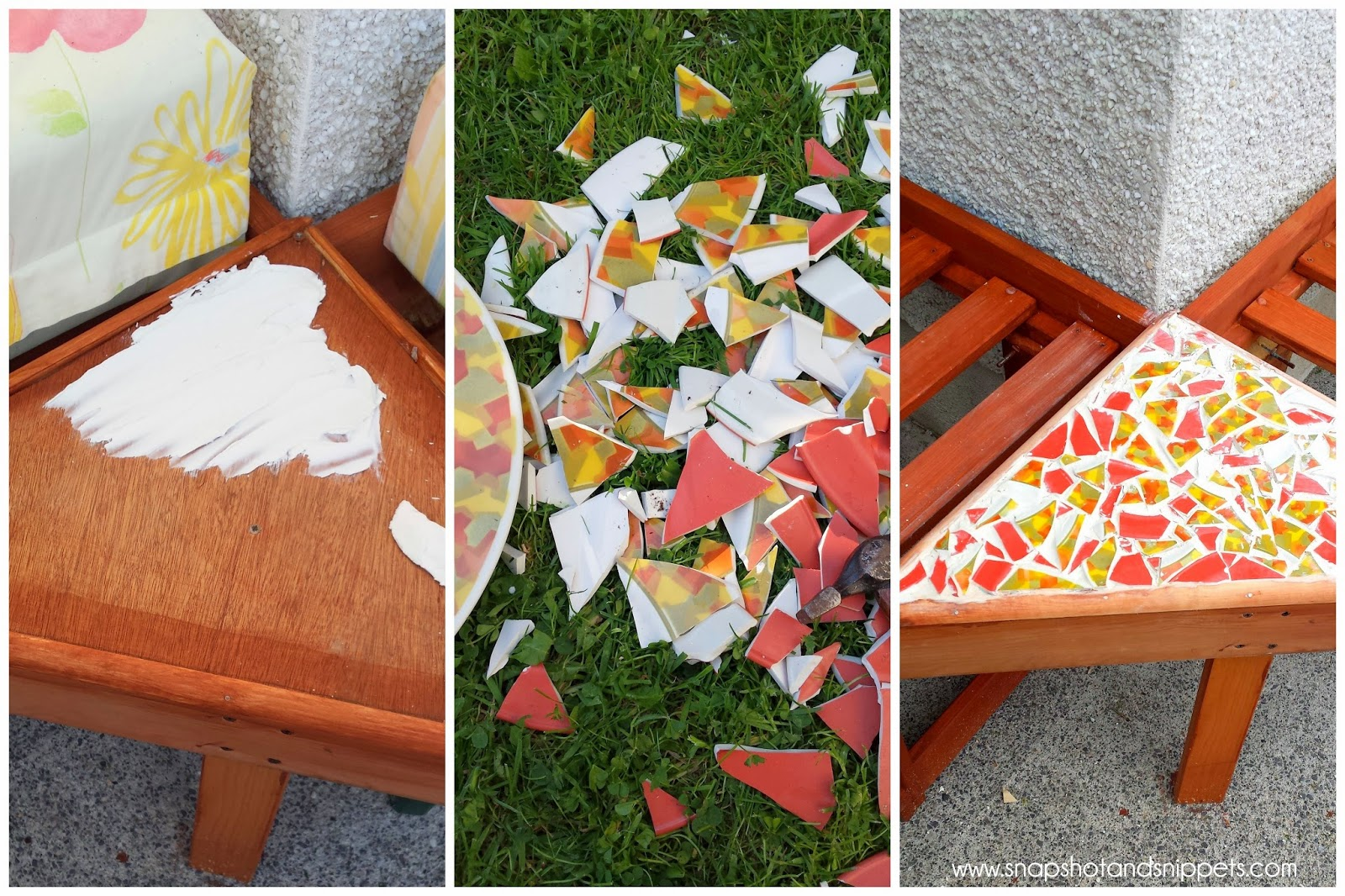 How to make a mosaic table top