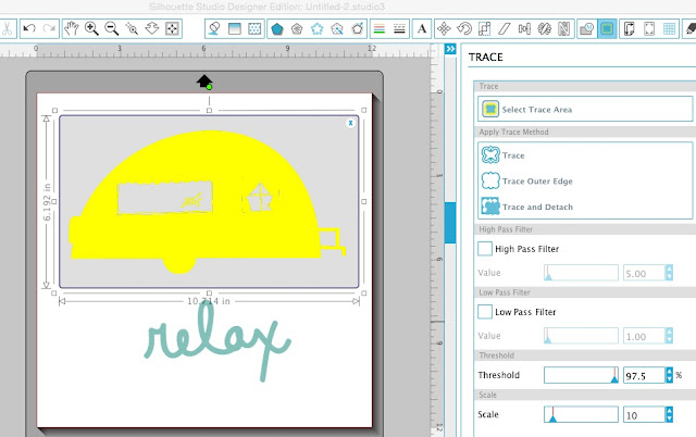 Silhouette Cameo, graphic design pack, trace and detach, Silhouette Studio