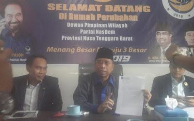 Partai NasDem NTB Rekomendasikan TGB Cawapres Jokowi