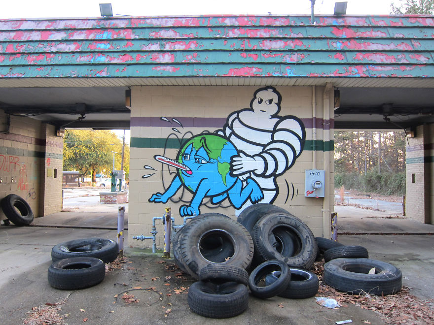 These 30+ Street Art Images Testify Uncomfortable Truths - Poor Earth