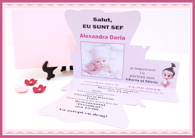 invitatii botez Baby Princess